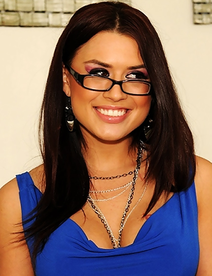 Eva Angelina in blue